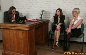 Fascinating office femdoms deep..