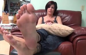 Enthralling gal has luxurious feet and..