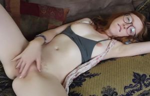Sandy-haired Ginger Jacks To Climax