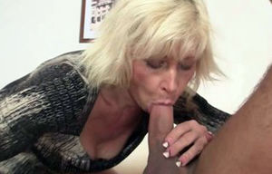 Ash-blonde mommy inlaw tempts married..