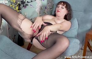 Crazy mummy rips her ebony  and..