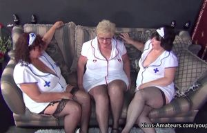 3 plus-size grandmas in nurses