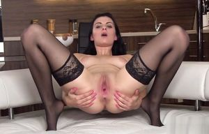 Flirty czech kitty gapes her stretched..