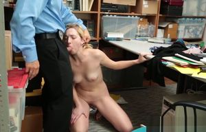 Shoplifter Zoe Parker Gets Poked By..