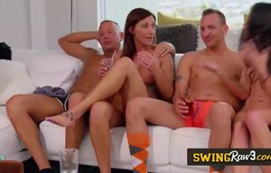 swingers are having fuck-fest in a..