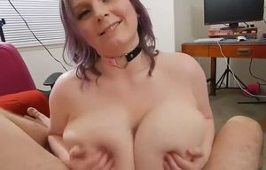 Point of view huge udders tittyfuck you