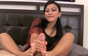 Jasmine Timid  Footjob