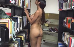 Mia Khalifa Jerking in Library