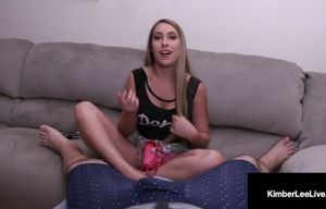Young woman kimber lee masturbates you..