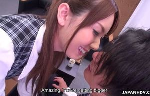 Asian office lady, yui hatano is..