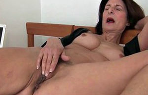 takes care of her orgasmic needs