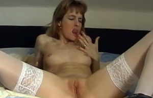 Retro oral and xxx with a pantyhose doll