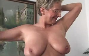 Ash-blonde Grannie and her affair