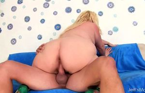 Nice Plus-size Blonde Fantasy Mounts a..
