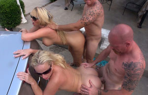 2 Scorching Wives Poke Neighbors..