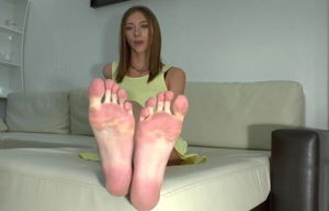Russian Chick Handsome Large Feet..
