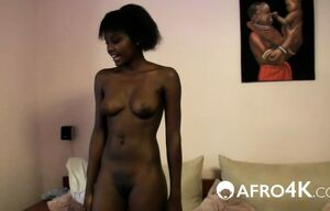 Milky stud nailing African cutie